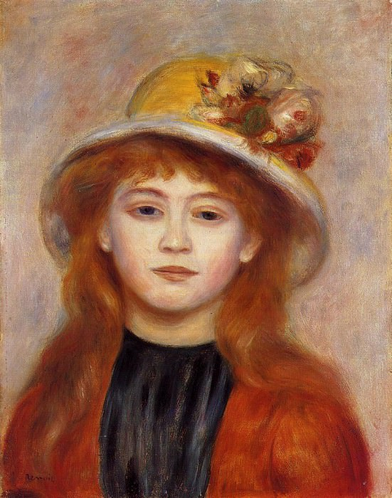 Woman Wearing a Hat - 1889. Пьер Огюст Ренуар