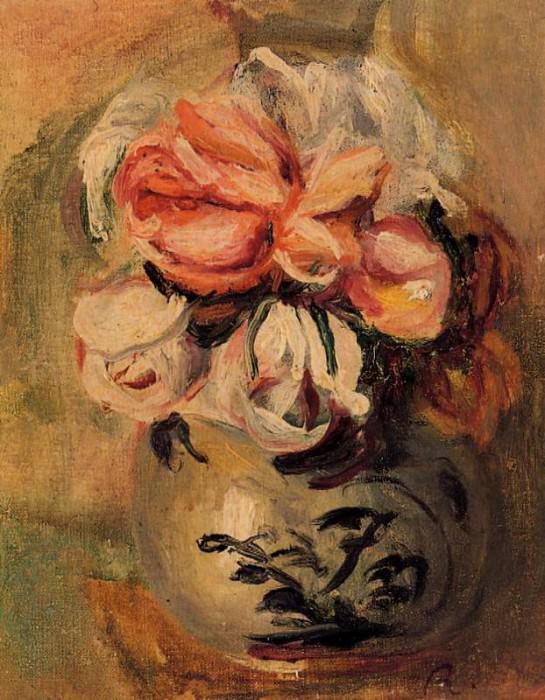 Vase of Flowers. Pierre-Auguste Renoir