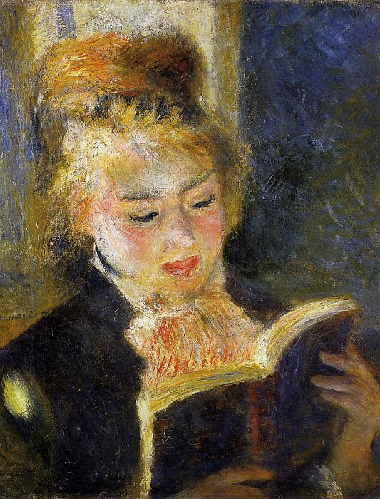 The Reader (also known as Young Woman Reading a Book) - 1875 - 1876. Pierre-Auguste Renoir
