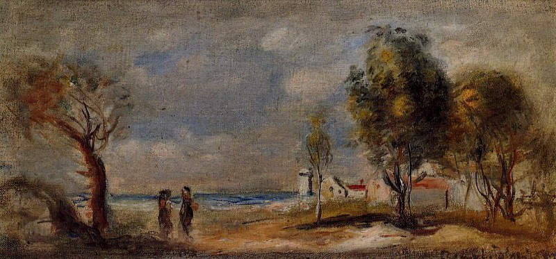 Landscape (after Corot) - 1898. Пьер Огюст Ренуар