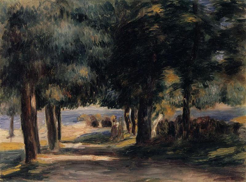 Pine Wood on the Cote dAzur - 1885. Pierre-Auguste Renoir