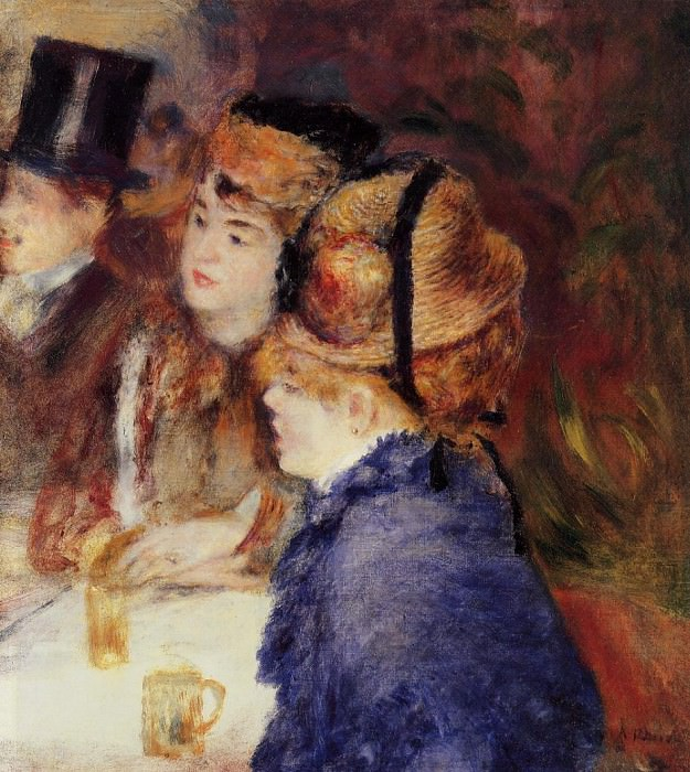 At the Cafe - 1877. Pierre-Auguste Renoir