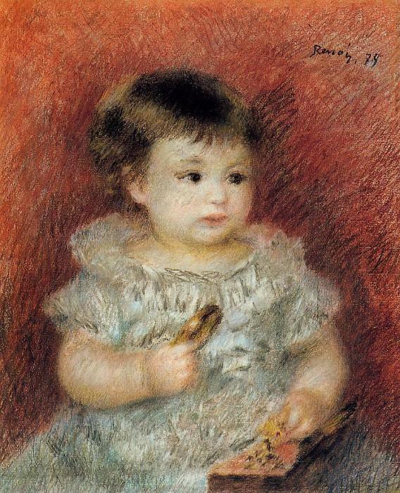 Portrait of Lucien Daudet - 1875. Pierre-Auguste Renoir