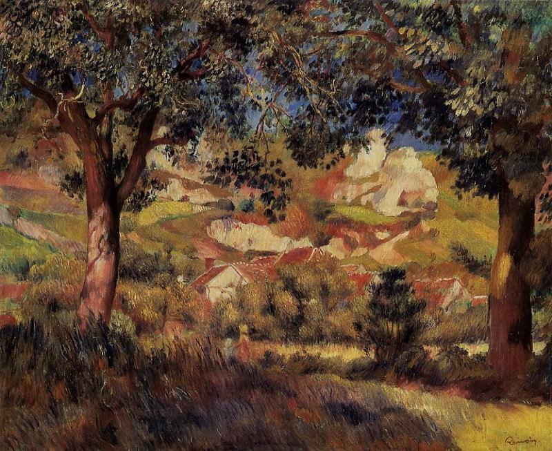 Lanscape in La Roche-Guyon - 1887. Pierre-Auguste Renoir
