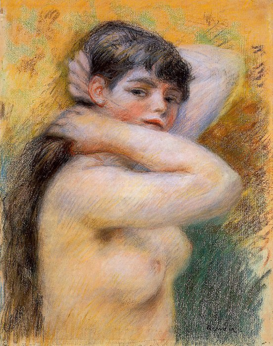 Young Woman at Her Toilette - 1885 - P. C.. Pierre-Auguste Renoir