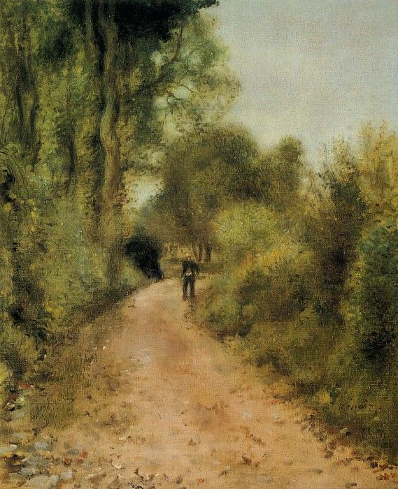 On the Path - 1872. Пьер Огюст Ренуар
