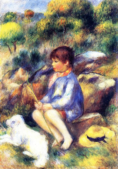 Young Boy by the River - 1890. Pierre-Auguste Renoir