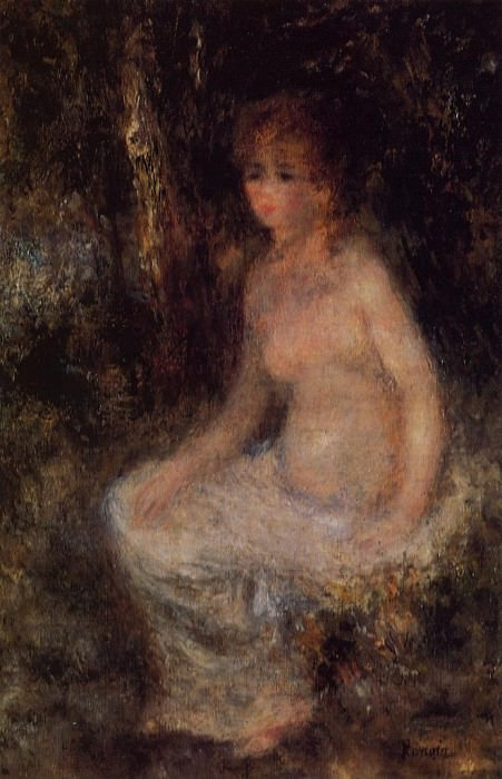 Nude Sitting in the Forest - 1876. Pierre-Auguste Renoir