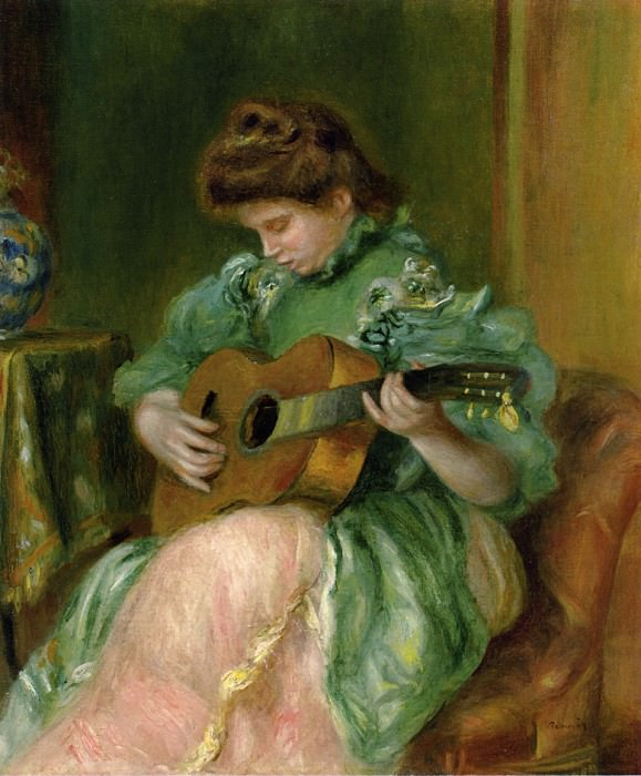 Woman with a Guitar - 1896 - 1897. Pierre-Auguste Renoir