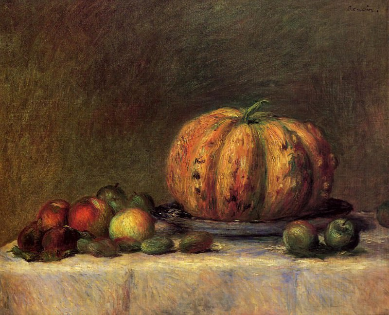 Still Life with Fruit - 1882. Pierre-Auguste Renoir
