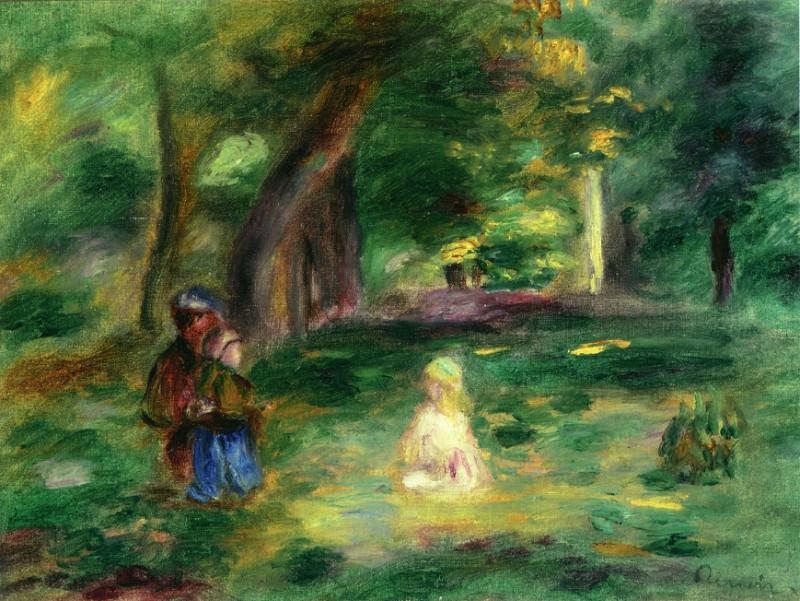 Three Figures in a Landscape. Pierre-Auguste Renoir