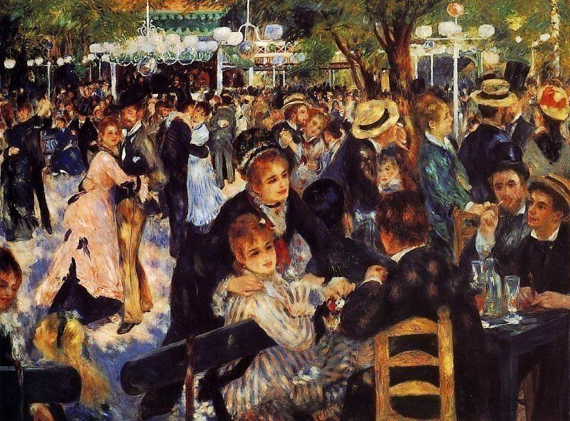 Dance at the Moulin de la Galette - 1876. Pierre-Auguste Renoir