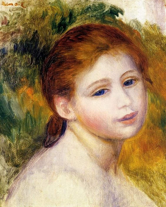 Head of a Woman - 1887. Pierre-Auguste Renoir