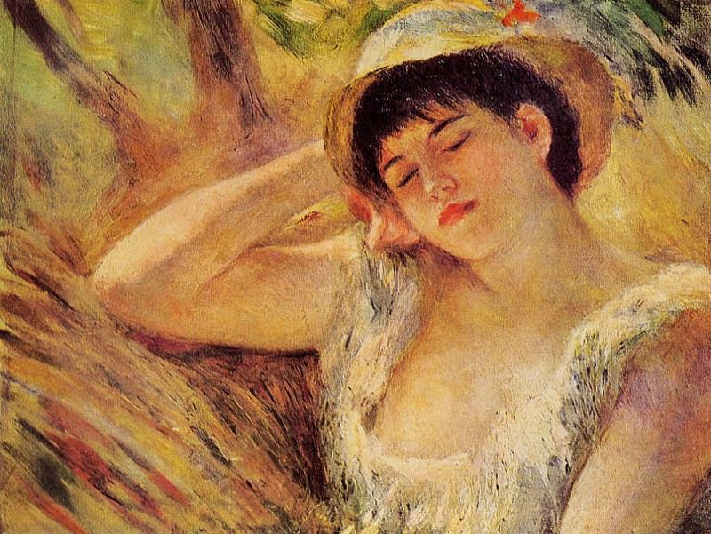 The Sleeper - 1880. Pierre-Auguste Renoir