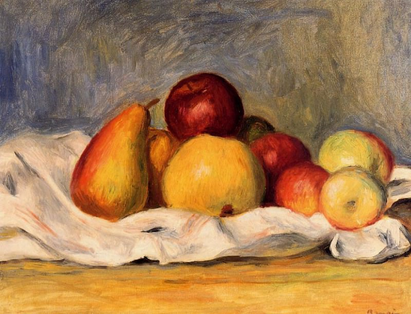 Pears and Apples - 1890. Пьер Огюст Ренуар