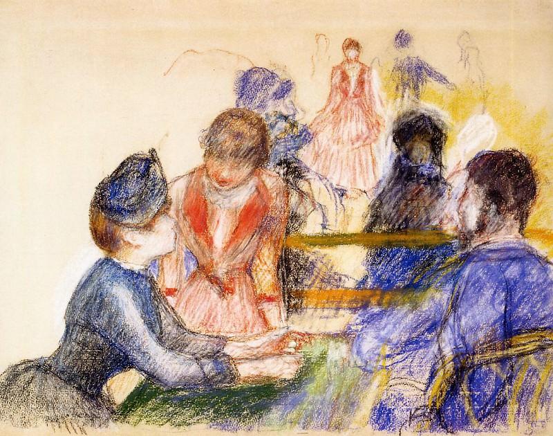 At the Moulin de la Galette - 1875. Pierre-Auguste Renoir