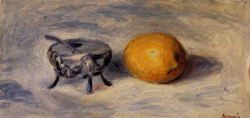 Sugar Bowl and Lemon. Pierre-Auguste Renoir