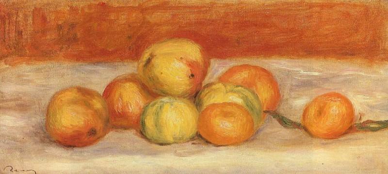 Apples and Manderines 1901. Pierre-Auguste Renoir