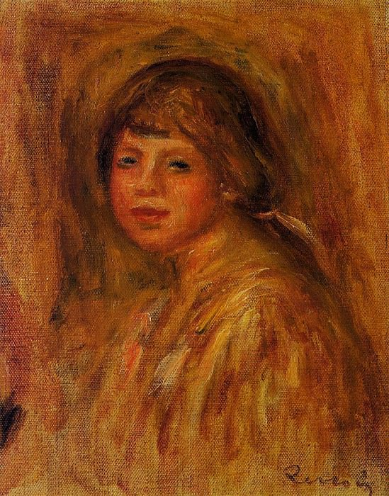 Head of a Young Woman - 1915. Pierre-Auguste Renoir