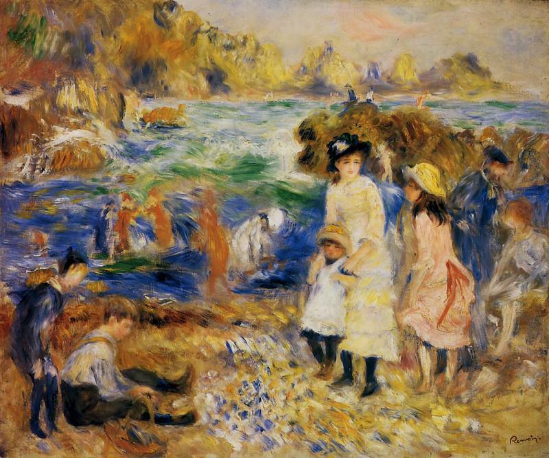 Children by the Sea in Guernsey - 1883. Pierre-Auguste Renoir