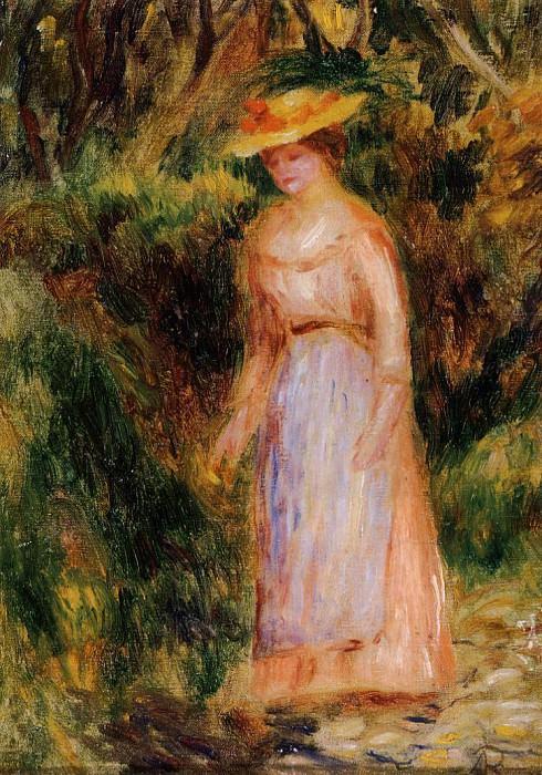 Young Woman Taking a Walk. Pierre-Auguste Renoir