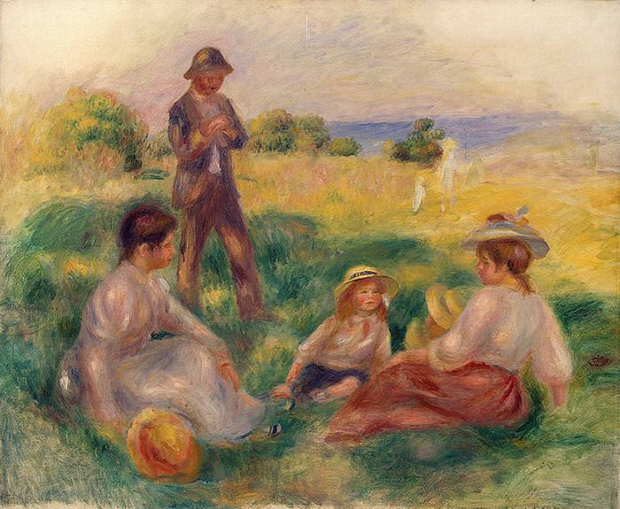 Party in the Country at Berneval - 1898. Pierre-Auguste Renoir