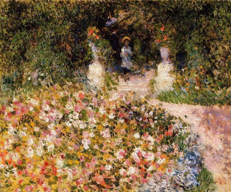 The Garden (also known as In the Park) - 1875. Pierre-Auguste Renoir