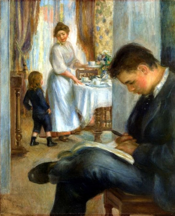 Breakfast at Berneval - 1898. Pierre-Auguste Renoir