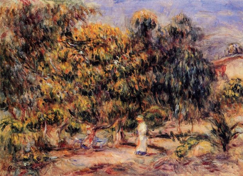 Woman in the Garden at Collettes. Pierre-Auguste Renoir