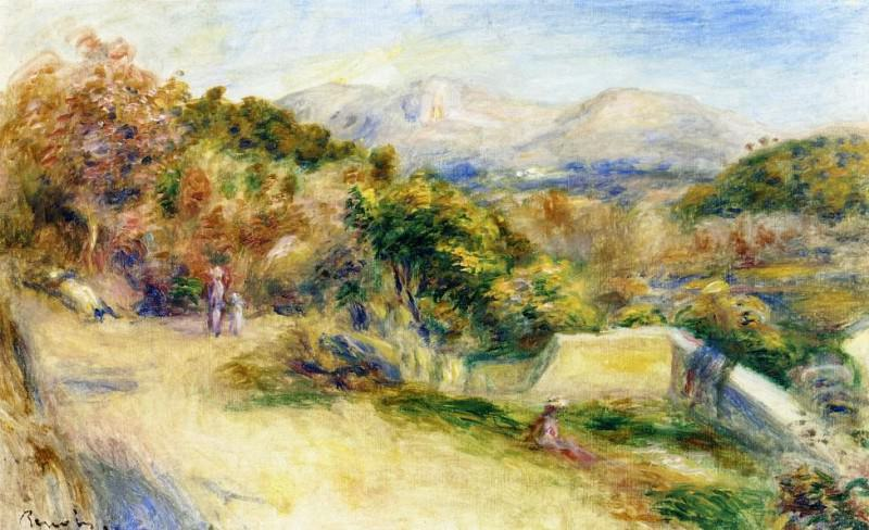 The View from Collettes, Cagnes - 1910 - 1911. Pierre-Auguste Renoir