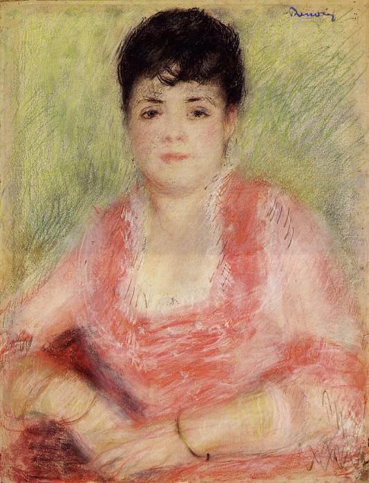 Portrait of a Woman in a Red Dress - 1881. Pierre-Auguste Renoir