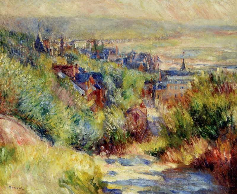 The Hills of Trouville - 1885. Pierre-Auguste Renoir