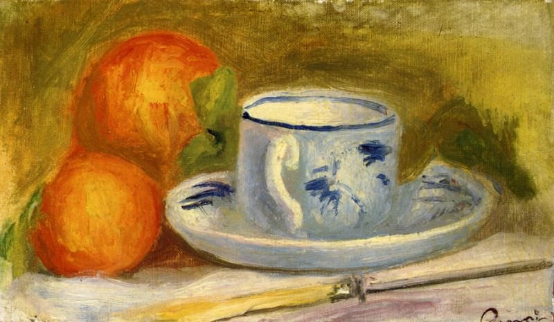 Cup and Oranges. Pierre-Auguste Renoir