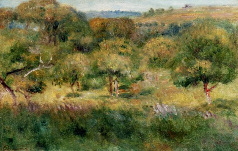 The Edge of the Forest in Brittany - 1893. Pierre-Auguste Renoir