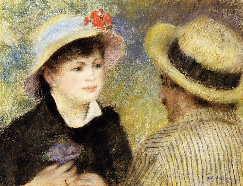 Boating Couple (also known as Aline Charigot and Renoir) - 1880-1881. Pierre-Auguste Renoir