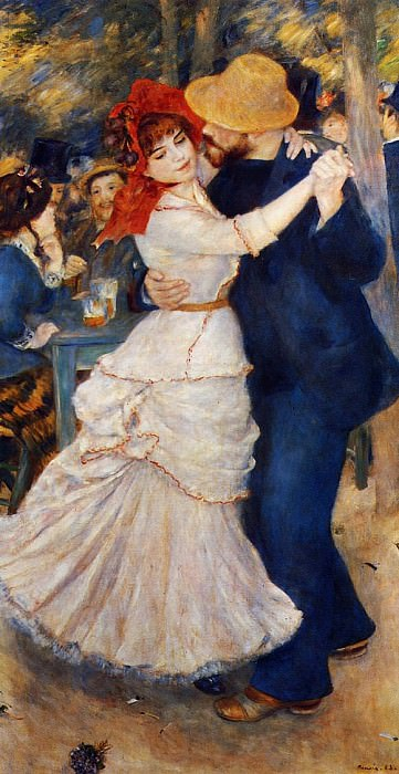 Dance at Bougival. Pierre-Auguste Renoir