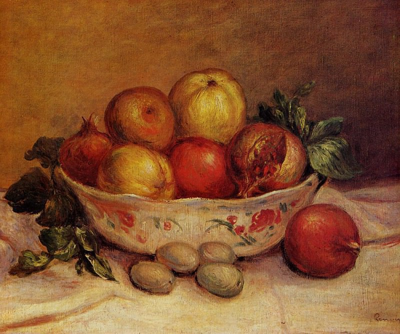 Still Life with Pomegranates - 1893. Pierre-Auguste Renoir