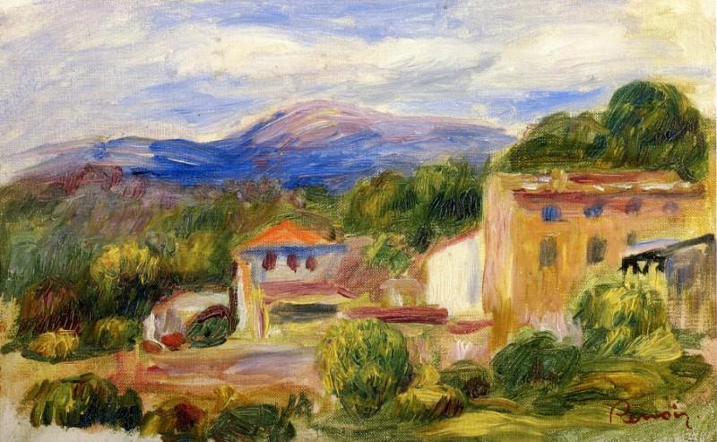 Cagnes Landscape - около 1904 - 1910. Pierre-Auguste Renoir