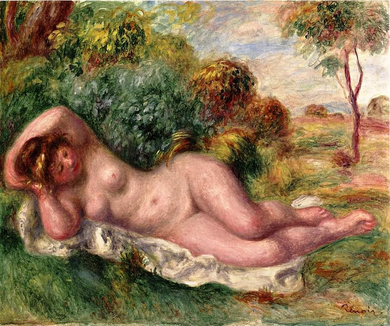 Reclining Nude (also known as The Bakers Wife) - 1902. Pierre-Auguste Renoir