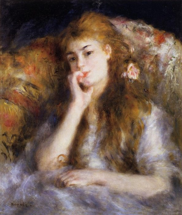 The Thinker (also known as Seated Young Woman) - 1877. Pierre-Auguste Renoir