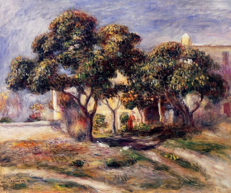 Medlar Trees, Cagnes - 1908. Пьер Огюст Ренуар