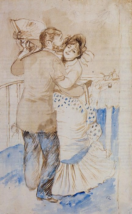 Country Dance (study) - 1883. Pierre-Auguste Renoir
