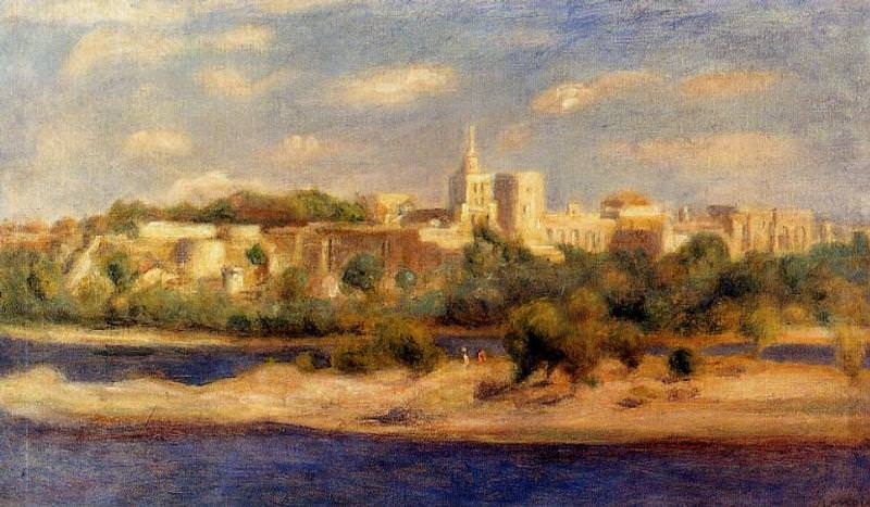 Bathers on the Banks of the Thone in Avignon - 1910. Pierre-Auguste Renoir