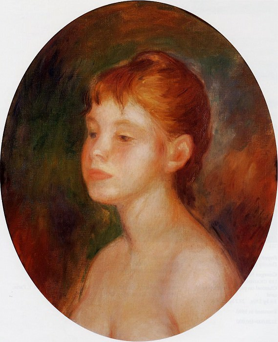 Study of a Young Girl (also known as Mademoiselle Murer) - 1882. Пьер Огюст Ренуар
