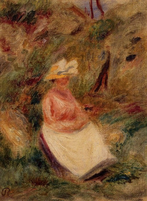 Young Girl in the Woods - 1910. Pierre-Auguste Renoir