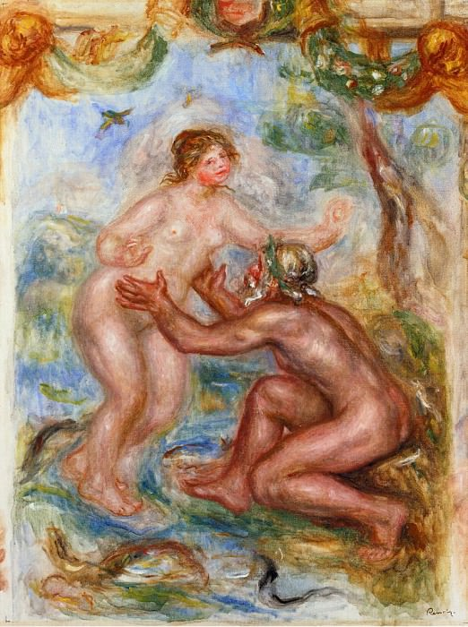 Study for - The Saone Embraced by the Rhone - 1915. Pierre-Auguste Renoir
