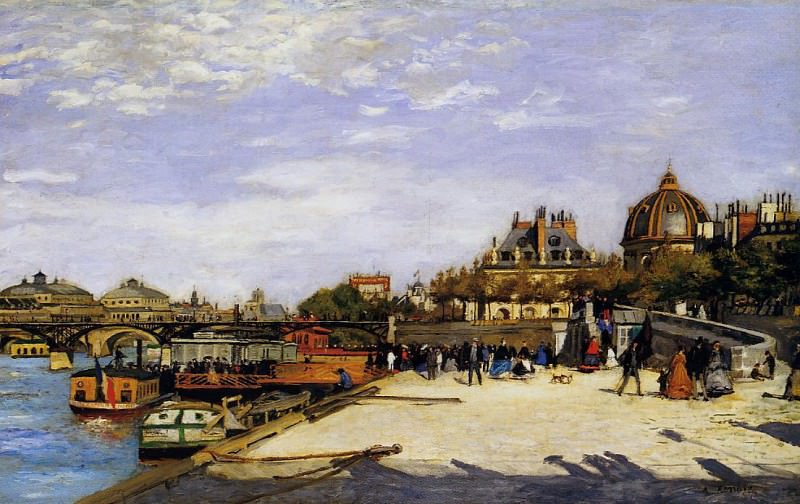 The Pont des Arts and the Institut de France - 1867. Pierre-Auguste Renoir
