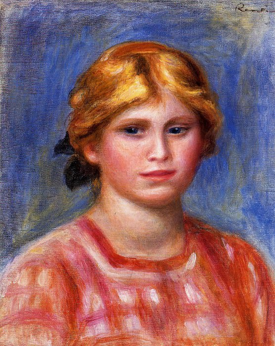 Head of a Young Girl. Пьер Огюст Ренуар