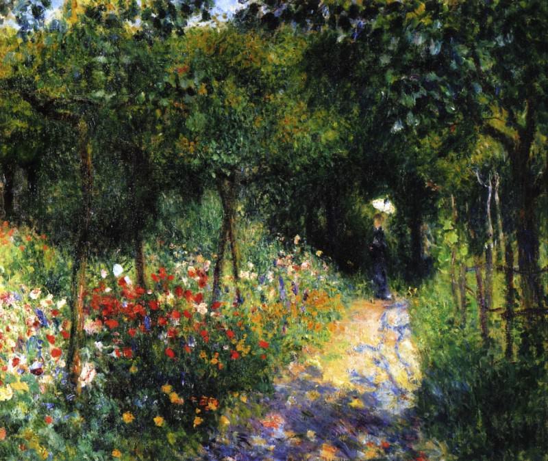 Women in a Garden - 1873. Pierre-Auguste Renoir
