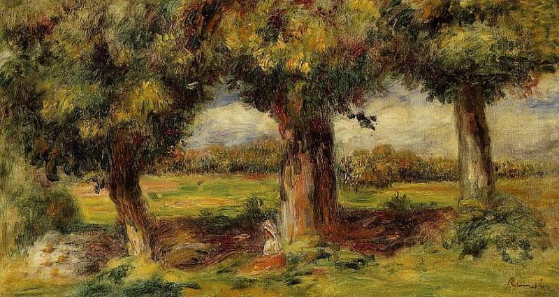 Landscape near Pont-Aven - 1890. Пьер Огюст Ренуар